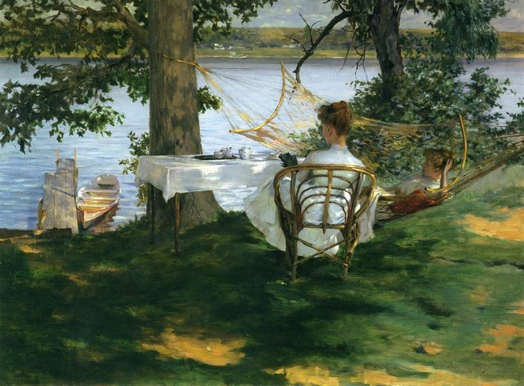 Irving Ramsey Wiles - Afternoon tea on the Terrace, 1889
