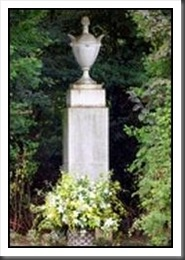 The urn at Princess Diana's grave