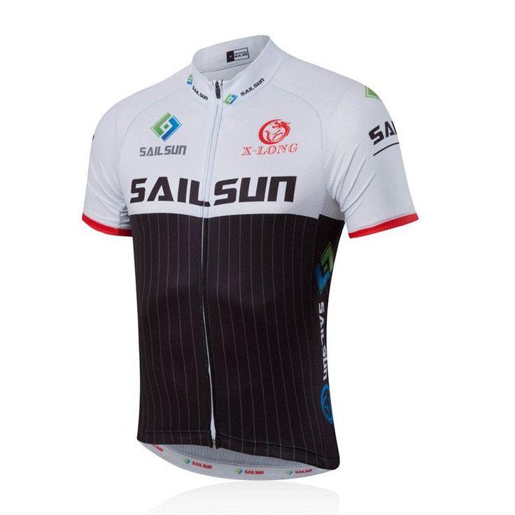 HOT SAIL SUN Men MTB Cycling Clothing bike Jersey Top or Bike Bib Shorts Black White Male Sports Pro team ropa Bicycle wear Top