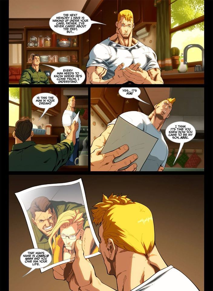 A lil more of inside Street Fighter IV: Wages Of Sin – Oversized HC Edition. Prologue: Abel. Page 6 http://amzn.com/1927925142 http://fb.me/1vD2IIfFB #StreetFighterIV #SF4 #streetfighter #udonbooks #capcom #abel