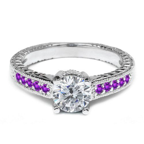 1.20 Ct Round H/I Diamond Purple Amethyst 18K White Gold Engagement Ring Gem Stone King,http://www.amazon.com/dp/B00EHPHCSM/ref=cm_sw_r_pi_dp_PLiGtb0SKBK4DTJD