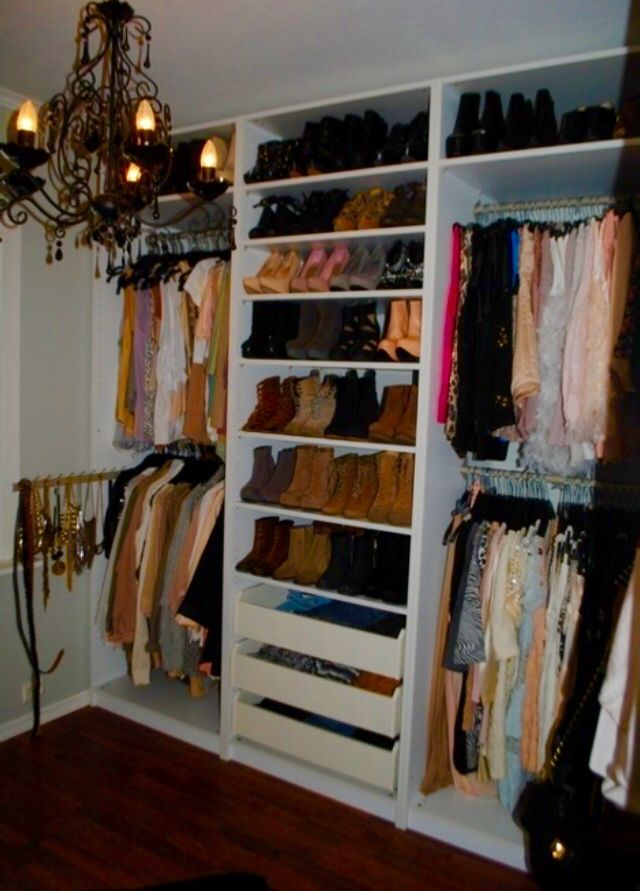 I Love The Idea Of A Chandelier In The Closet