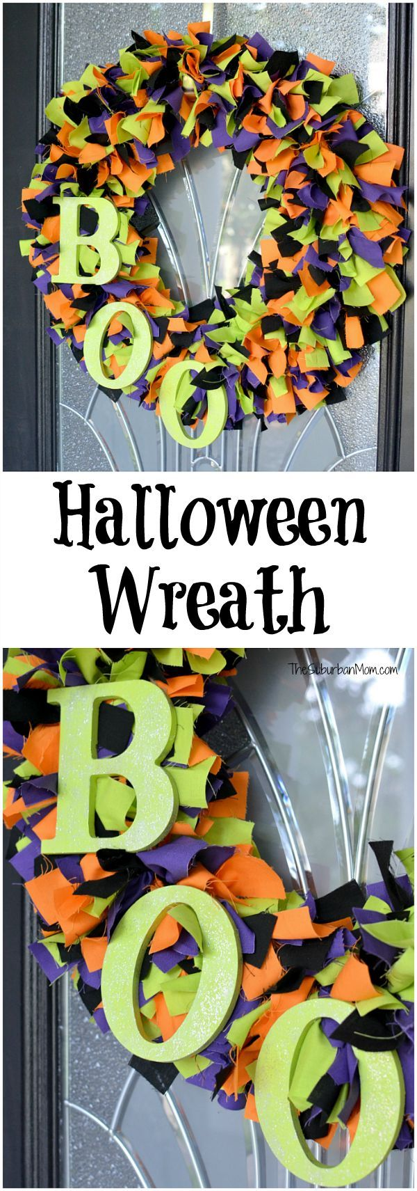 diy fabric halloween wreath tutorial - Halloween Projects Diy