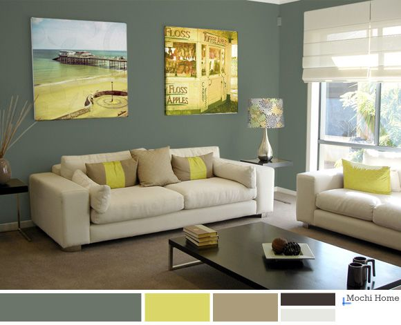 Color study sage green living room ideas home - Green paint colours for living room ...