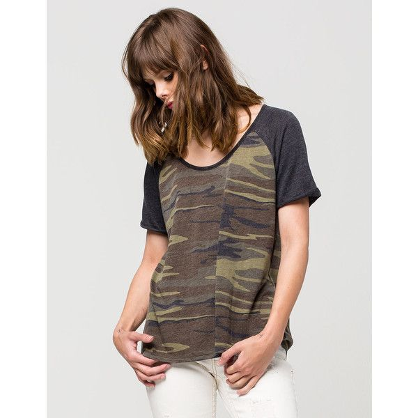 Size Medium - Others Follow Camo Womens Tee ($25) ❤ liked on Polyvore featuring tops, t-shirts, camo, brown tee, brown t shirt, camo tee, camouflage top and camo top