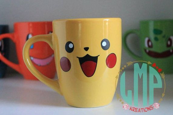 This Pikachu Mug is a fantastic gift for any Pokemon lover! MUG DETAILS:  This listing is for ONE Pikachu mug. White ceramic Size – 12oz Hand wash only / DO NOT wash with boiling water No dishwasher safe DO NOT microwave Do not rub off