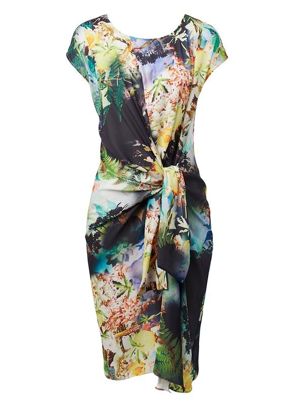 Digi Jungle Print Dress - Seed Heritage (outfit 1)