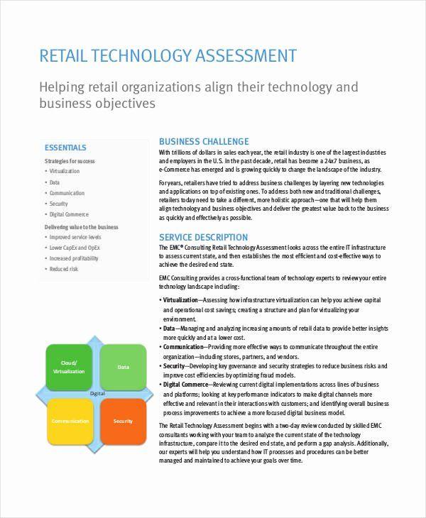 It Infrastructure Assessment Template Fresh Technology Assessment
