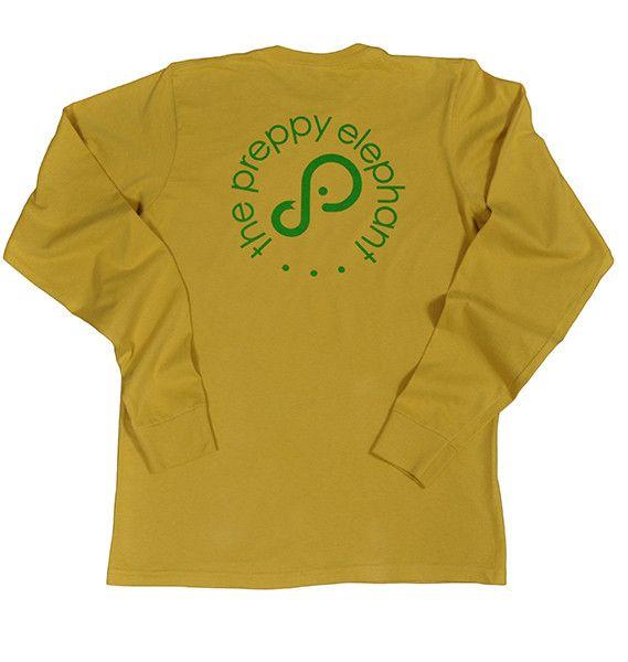 Mens- Green Circle Logo LS Tee
