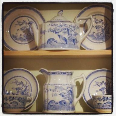 Blue Quail tea service. Fell in love with this set while watching Judi Dench use it in BBC's as time goes by!