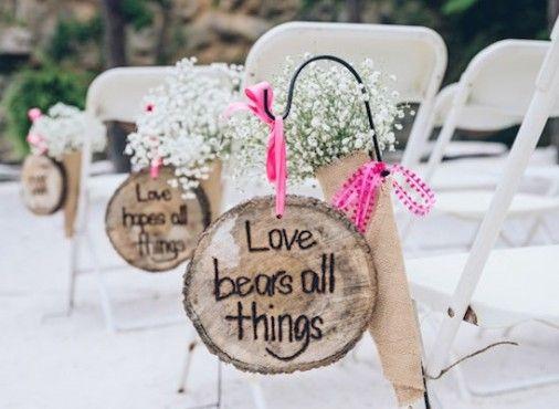 Mensajes sobre el amor por  el pasillo nupcial. Más bonito no se puede!