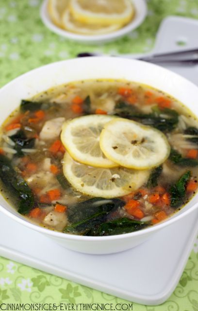 Orzo-Chicken Soup - I loved this soup! It's a delightful mix of lemon ...
