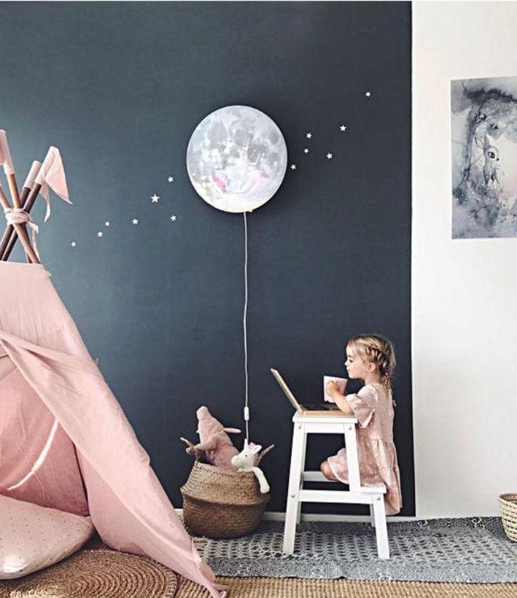 Mond in meinem Raum Fernmondphasen-Glühenmond