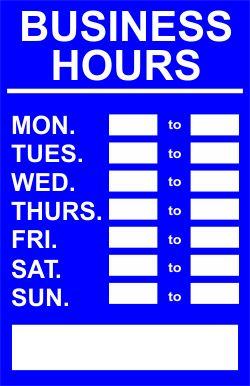 Store hours sign printable store hours sign template unique free printable timesheet templates friedricerecipe Images
