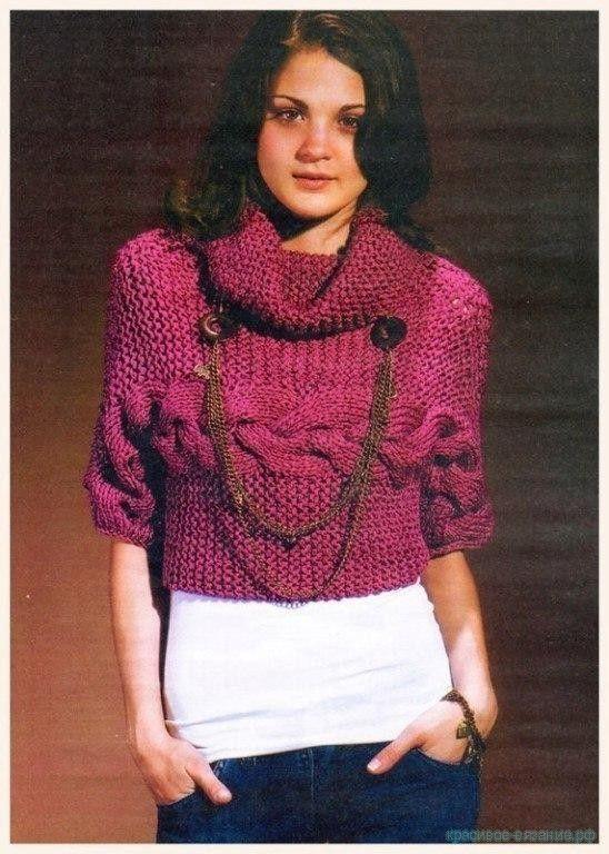 Вязание спицами для женщин с описанием. Как связать стильный свитер спицами. Описание вязания свитера спицами. …