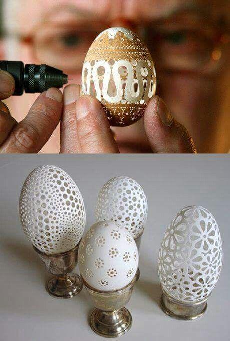 Ovos pendurados tb ficam ótimos