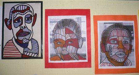 Ecole maternelle Barbier - Grands : à la manière de Dubuffet