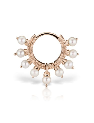 "1/4"" Pearl Coronet Ring (Tragus) Image #1"