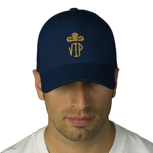 VIP Embroidered Hat by Elenaind #Zazzle