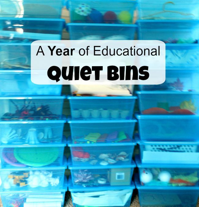 An entire year of educational quiet boxes! Perfect for kids between 2 - 6 years. Awesome for little ones who no longer nap, or for toddlers while Mama nurses. Also great for home schooling families with little ones!