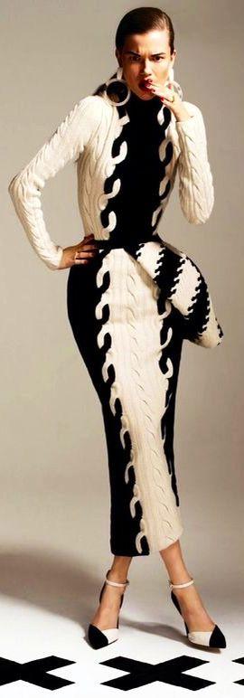 warm, cozy, high fashion... Christian Dior