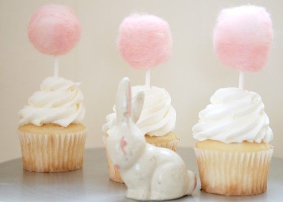 Candy floss cupcakes