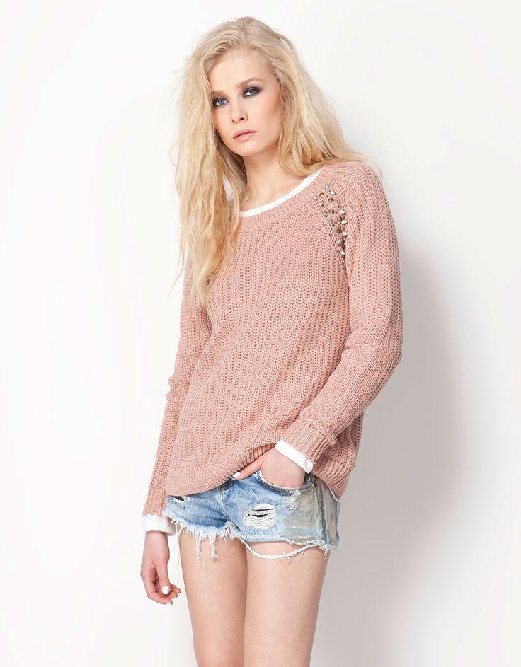 Bershka Turkey - Bershka studded knit jumper