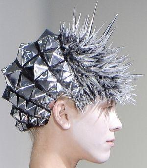 future fashion, avant garde, silver, accessories, futuristic fashion by FuturisticNews.com
