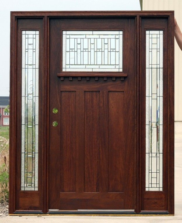 Luxury Craftsman Entry Door with Sidelights