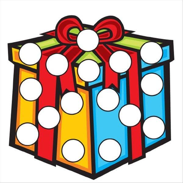 Coloriages gommettes de Noël en couleur 3
