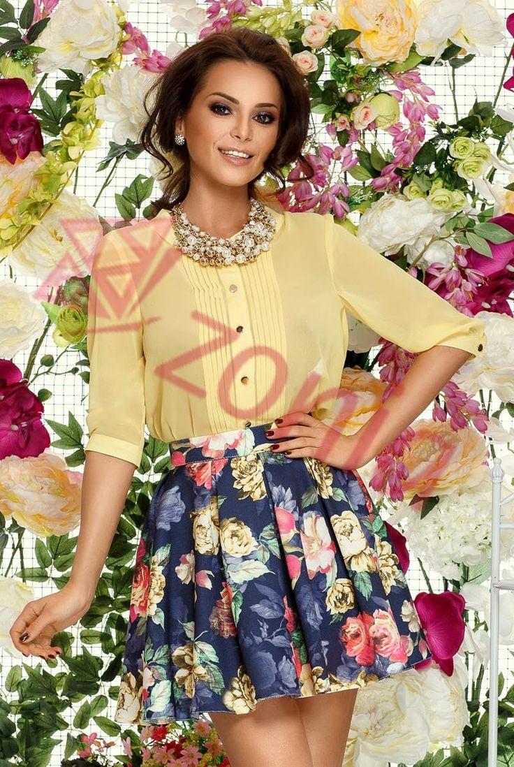 Fusta scurta cu imprimeu floral in clos Livia Floral - MuJeR.ro http://www.mujer.ro/fusta-scurta-cu-imprimeu-floral-in-clos-livia-floral