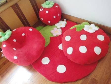strawberry pillows