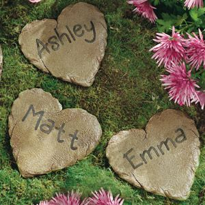 Personalized garden stepping stones! (from walmart.com of all places!)