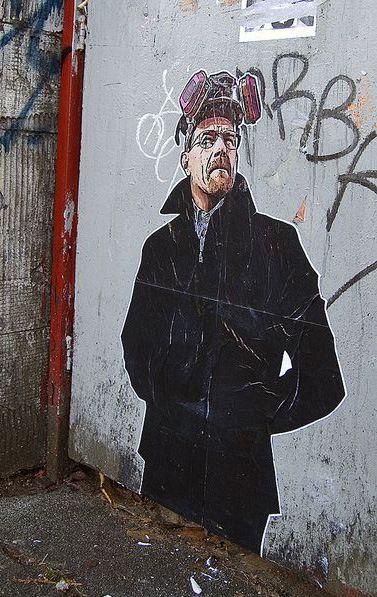 Breaking Bad Walter White Street Art