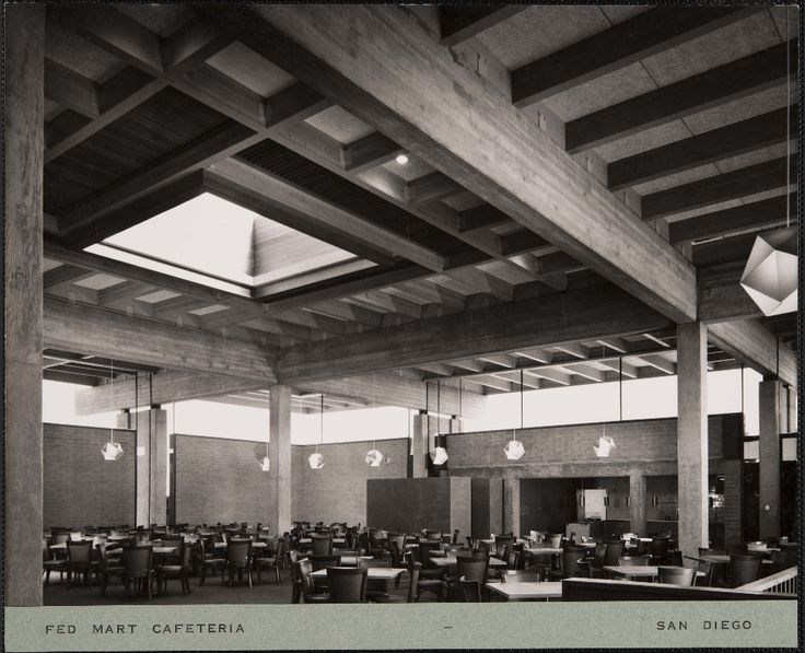 Fed Mart cafeteria, San Diego, ca.1964