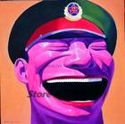 Китай известный современный художник minjun юэ хип-хоп улыбающееся лицо холст современная декоративная абстрактное искусство walloil живопись 58