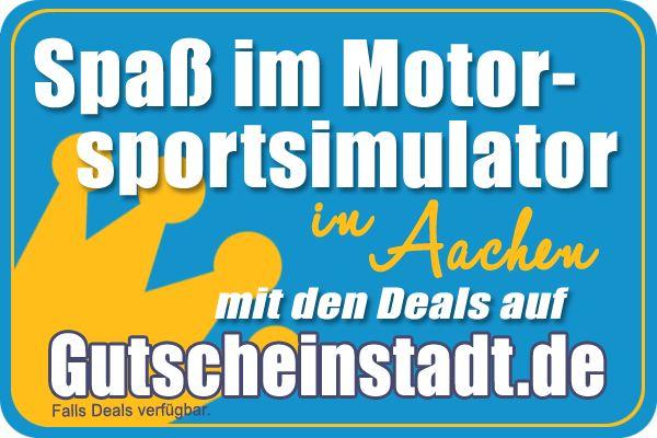 Spaß im Motorsport-Simulator in Aachen mit Deals von #Gutscheinstadt