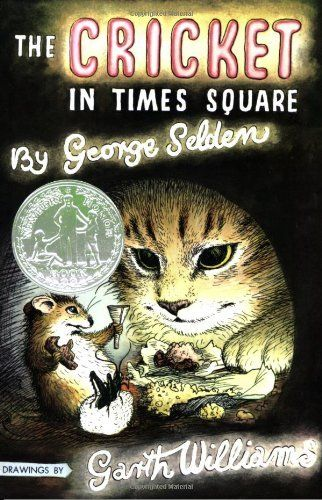 The Cricket in Times Square (Chester Cricket and His Friends) by George Selden, http://www.amazon.com/dp/0312380038/ref=cm_sw_r_pi_dp_5FyRqb0FJ7TGN