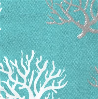 Corals on Turquoise Twin Bedspread