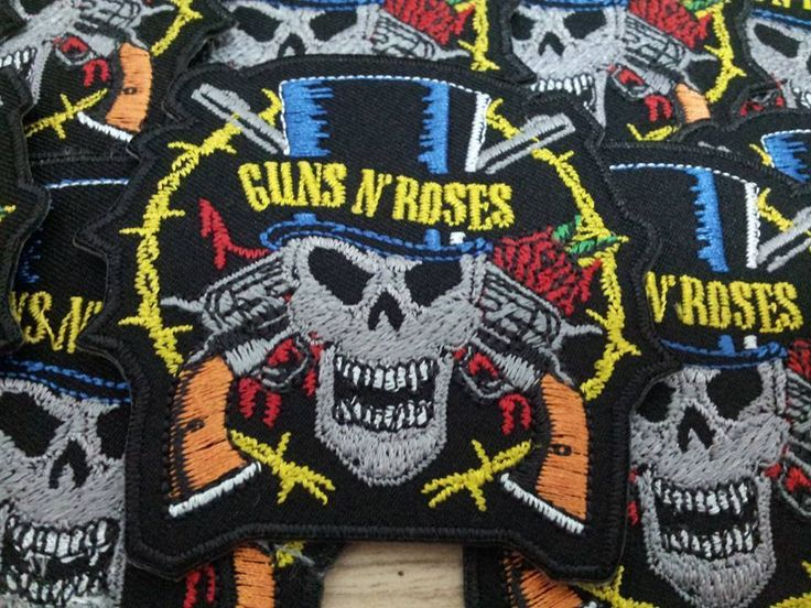 10 Guns N Roses Sew On Patch Iron Embroidered Hard Rock Band Heavy Metal Music #Unbranded #Embroidered