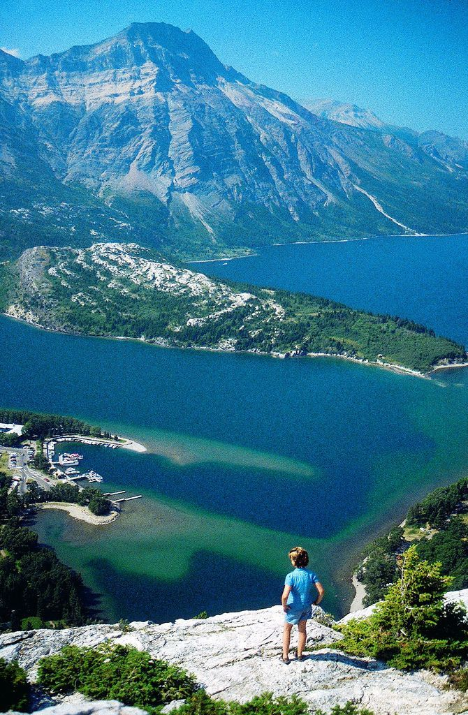 Waterton Lakes National Park ~ in Alberta, Canada borders Glacier National Park in Montana                                                                                                                                                      More