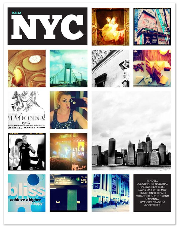 SCRAPBOOKING | Weekend in NYC using my 8.5x11 Instagram Grid.Nyc Collage, Designeditor Nycpag, Instagram Grid, 85X11 Instagram, 8 5X11 Instagram, Scrapbooking Ideas, Nyc Scrapbook, Instagram Layout, Scrapbook Nyc