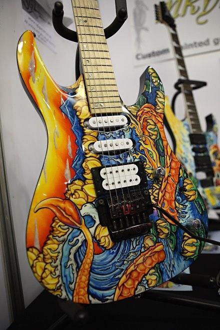 great body art guitar music art pinterest awesome paint pens. Black Bedroom Furniture Sets. Home Design Ideas