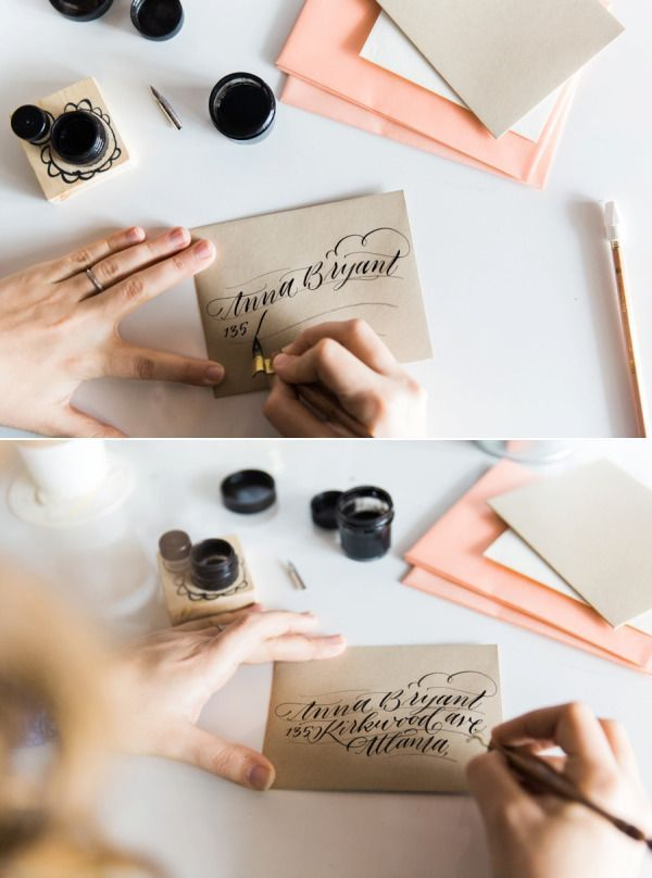 Ashley Buzzy is giving us tips on how to address envelopes in the most beautiful of ways. It's as easy as 1, 2, 3, 4 and with a little practice, your snail mail will be looking just as pretty as these