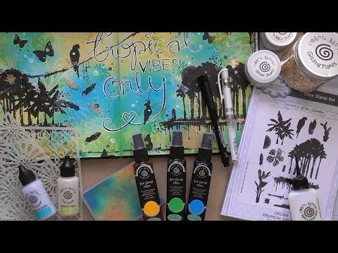 Tropical Vibes Only Art Journal Layout :D - YouTube