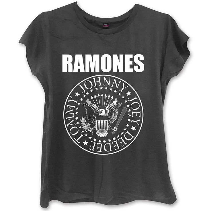 official RAMONES LADIES FASHION TEE: PRESIDENTIAL SEAL WITH SKINNY FITTING new