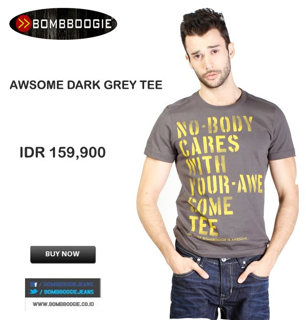 Nobody cares with your awesome tee IDR 159,900 >> http://ow.ly/vjNjC