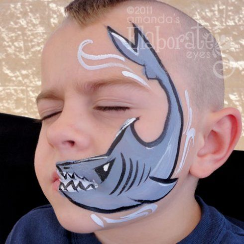 58 best images about face painting under the sea on pinterest - Maquillage simple enfant ...