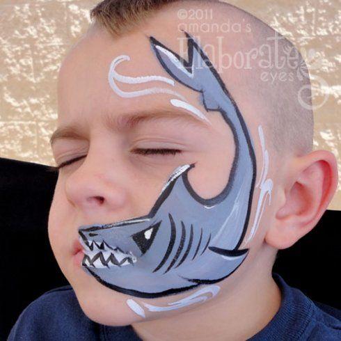 Haai schmink jongens / Shark face paint boys www ...