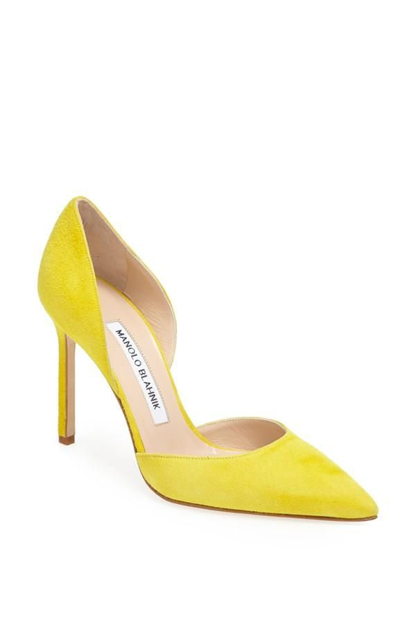 A yellow pump gets us excited   Manolo Blahnik